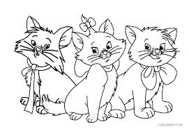 Cat Colouring Pages Printable Cute Cat Coloring Pages Kitten