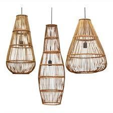 rattan lighting. Natural Ceiling Light Large Bamboo Pendant Rattan Lights Fixture Lighting