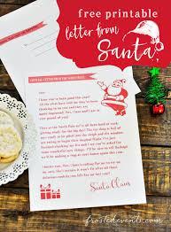 Free download & print letter to santa claus envelope template santa stamp 8. Letter From Santa Free Printable