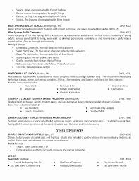 Dancer Resume Template Extraordinary Dance Resume For Auditioning For College Awesome Dance Resume Can Be