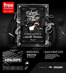 Black And White Flyer Template Free Black And White Club Flyer Template Music By Dennybusyet On 14