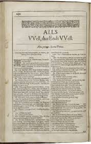 summary of two gentlemen of verona all s well that ends well  all s well that ends well shakespeare library opening page of the second folio edition of