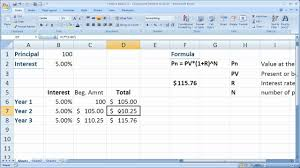 Finance Basics 2 Compound Interest In Excel