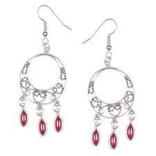 image of granada garnet chandelier earrings