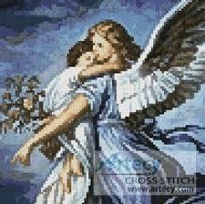 Angel Cross Stitch Patterns Amazing Mini Guardian Angel Cross Stitch Pattern Mini