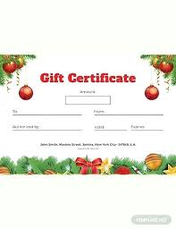 Word Templates Christmas Christmas Gift Certificate Template Word Landingbirds Me