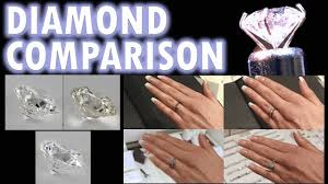 Color And Clarity Of Diamond Diamond Size Comparison Color Clarity 2 Carat 1 Ct Ring On Finger