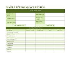 Restaurant Employee Performance Evaluation Form 46 Employee Evaluation Forms Performance Review Examples