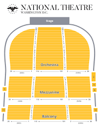 Seating Chart The National Theatre Washington D C