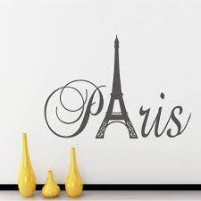 Paris Living Room Decor Aliexpresscom Buy Paris Art Eiffel Tower Removable Vinyl Wall