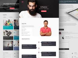 Free Personal Cv Resume Web Template By Junaed Ahmed Numan Dribbble
