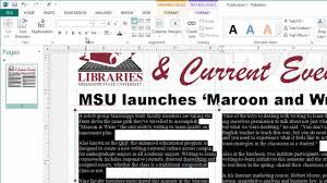 Microsoft Office Publisher Newsletter Templates Creating Newsletters In Microsoft Publisher Youtube