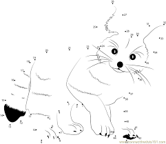 Fennec Fox dot to dot printable worksheet - Connect The Dots