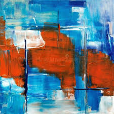 red blue and white abstract painting free public domain image black acrylic paintings