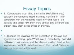 similarities and differences between world war and essay  similarities and differences between world war 1 and 2 essay