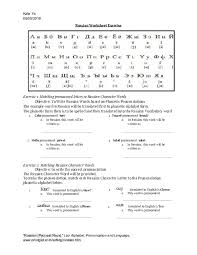 Russian orthography itself isn't very phonetic. Russian Alphabet With English Pronunciation Pdf Letter