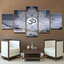 image is loading 5pcs sacred om symbol posters buddha yoga canvas  on om symbol wall art with 5pcs sacred om symbol posters buddha yoga canvas print wall art home
