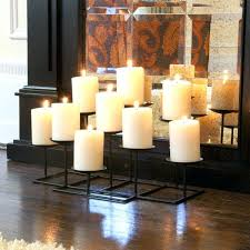 candle holders for fireplaces multi candle holder