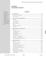 Chapter 8 Rail Transit Capacity Transit Capacity And