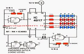 strobe light circuit diagram ireleast info led strobe light circuit chasing flashing effects wiring circuit