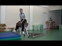 Опорный прыжок через гимнастического козла обучение