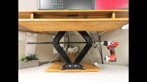Wood Diy Height Adjustable Standing Desk Youtube Diy Height Adjustable Standing Desk Youtube
