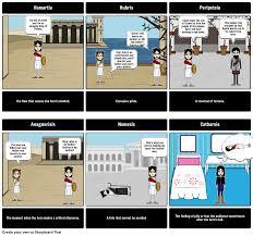 aristotle s characteristics of a tragic hero storyboard
