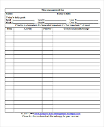 time management log time log templates