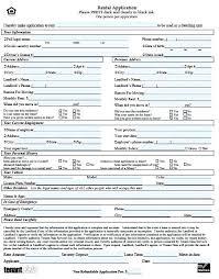 Rent Lease Application Form House Rental Application Form Template Chanceinc Co