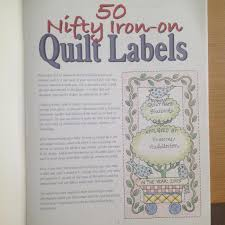 50 Nifty Iron-On Quilt Labels &  Adamdwight.com