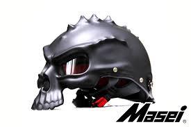 MASEI MATT BLACK SKULL 489 MOTORCYCLE CHOPPER DOT HELMET FOR HARLEY DAVIDSON  BIKER C