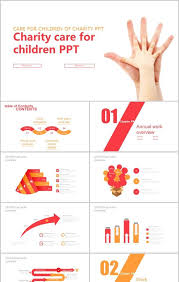 Palm Care Charity Love Care For Children Ppt Template