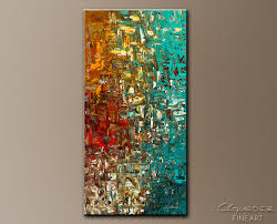 vertical large abstract art painting for a moment in time