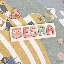 personalized name with owl raised
