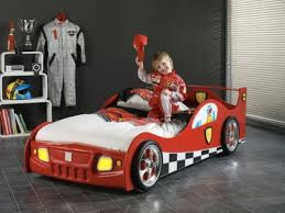 Racing car bed is perfect for any boy. They all want to become racers when