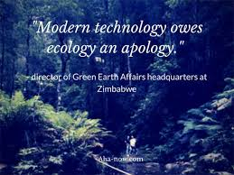 how to avoid the negative effects of technology on life aha now poster quote saying that modern technology owes ecology an apology