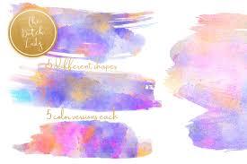 Paint Party Designs Watercolor Paint Party Smear Clipart By The Dutch Lady