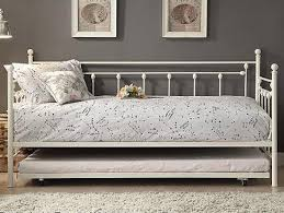 white iron daybed. Beautiful White Picture Of White Metal Daybed With Trundle Intended Iron A