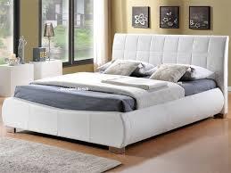 dorado white faux leather bed frame by limelight beds 6ft super kingsize