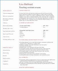Teacher Assistant Resumes Best Of Resume Ta Resume Preschool Teacher