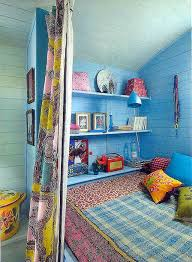 Bohemian Kids Bedroom With Blue Theme