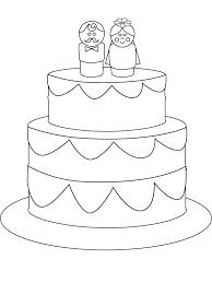 De Bruidstaart Kleurplaat Jouwkleurplaten