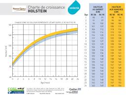 Holstein Breed Growth Chart Cm Kg Valacta