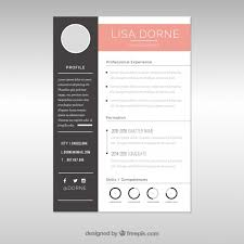 Elegant Resume Template Unique Elegant Cv Template With Graphics Vector Free Download