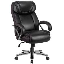 com flash furniture hercules series big tall 500 lb rated black leather executive swivel chair with extra wide seat kitchen dining