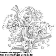3d Flower Bouquet Coloring Page 1839 Ultimate Coloring Pages