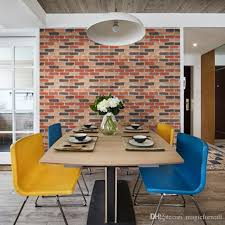 Bricks furniture Bench Creative Imitation Mixcolored Brick Selfadhesive Wallpaper Poster Home Bar Furniture Cabinet Decor Wall Graphic Stickers 1772 3937 Creatvie Imitation Decoist Creative Imitation Mixcolored Brick Selfadhesive Wallpaper Poster