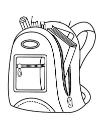 Small Picture School Backpack Contain with Book and Pencil Coloring Pages Best