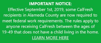 Calfresh Benefits Chart Alameda Social Services Food Assistance
