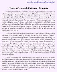 Examples Of Personal Statements Personal Statement Sample Bag The Web